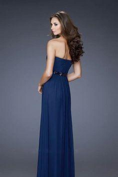 2013 Prom Dresses A-Line Floor Length Sweetheart Chiffon With Rhinestone