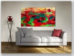 Popies Original Oil Painting 70 x100cm 276 x by paintingpoint