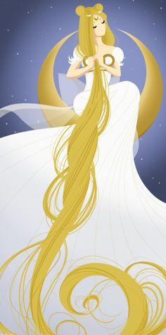 Princess Serenity. Sailor Moon Fanart