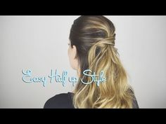 EASY Half up Style - YouTube