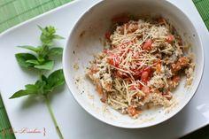 Savory Oatmeal: Sausage, Tomato, & Parmesan