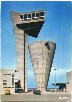 Tour Vigie et Réservoir, Fos-sur-Mer, France (1966- 1968), Gaston Jaubert #brutalist architecture #cast concrete