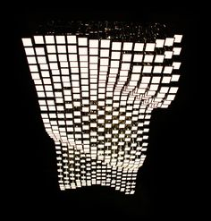 OLED lighting system. LivingSculpture 3D module system designed by Christopher Bauder / WHITEvoid (Philips Lumiblade).