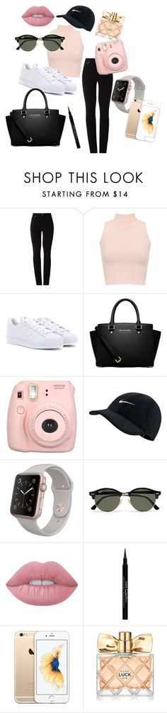 casual pink and black by explorer-14669544429 on Polyvore featuring mode, WearAll, Amapô, adidas, MICHAEL Michael Kors, Fujifilm, Ray-Ban, NIKE, Lime Crime and Givenchy