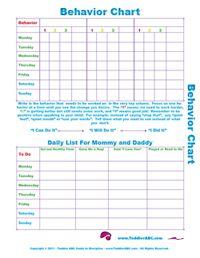 Printable Behavior Chart  Behaviour Chart Reuse And Chart