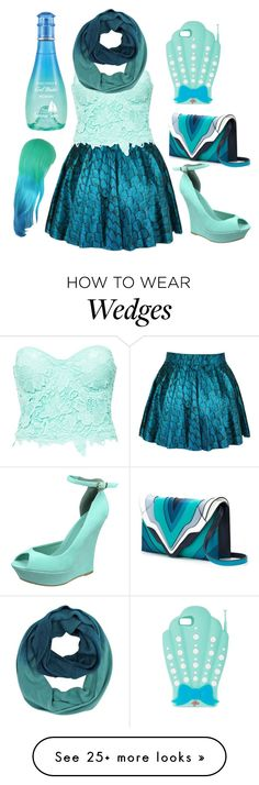 """Water waves *you wave back*"" by thatpastelgal on Polyvore featuring Club L, Davidoff, Elena Ghisellini and Valfré"