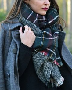 Chic Plaid Fringed Scarf For Women Scarves | RoseGal.com Mobile