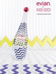 Evian : la bouteille d'eau signée Kenzo