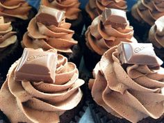 Cadbury Cupcakes; soft and fluffy chocolate cupcakes swirled with luscious and nostalgic Cadbury icing and topped with even more Cadbury chocolate!