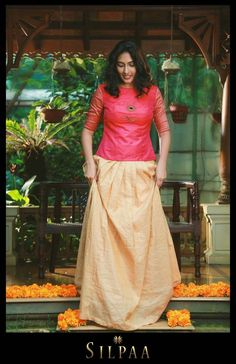 Trendy skirt long and top kerala ideas Long Skirt Top Designs, Long Skirt And Top, Lehenga Blouse, Saree Dress, Dress Skirt, Indian Gowns, Indian Attire, Indian Outfits, Churidar Designs