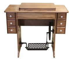 Amish Furniture-Treadle Sewing Machine Cabinet  ($788 from Cottage Craft Works)