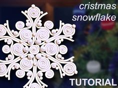 Polymer Clay TUTORIAL - Christmas Snowflake in filigree technique - lesson DIY digital download PDF. $9.80, via Etsy.