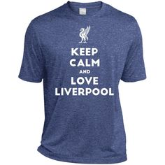 Keep Calm and Love The Reds TST360 Sport-Tek Tall Heather Dri-Fit Moisture-Wicking T-Shirt