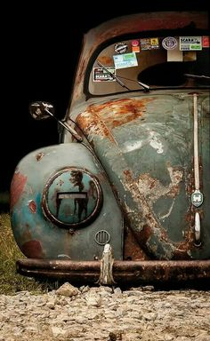 Vintage Beauty! No matter how old you are or how beaten up you are...I still live you Slammed Vw beetle