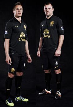 Everton Away Kit Unveiled. Jagielka Gibson sport the new look kit. 1000 likes. Phil Jagielka, Everton Fc, Darron Gibson, New Look, 1000 Likes, Soccer, Kit, Club, News
