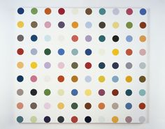 Damien Hirst Sulfisoxazole 2007 Household gloss on canvas 1295 x 1448 mm   51 x 57 in   (3 inch spot)