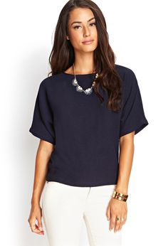 Boxy Georgette Dolman Top #SummerForever