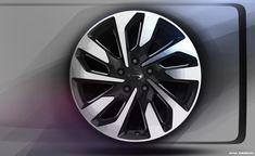 Automotive Rims, Rims For Cars, Form Design, Car Sketch, Car Wheels, Alloy Wheel, Car Parts, Exterior Design, Transportation