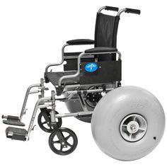 Wheelchair Beach Conversion Kits Front and Rear – Wheeleez, Inc. Large Cooler, Beach Cart, Manual Wheelchair, Video Contest, Beach Ready, Jet Ski, Aluminum Wheels, Fun To Be One, Outdoor Power Equipment