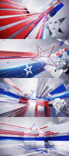 A Draft and alternate art direction for the US elections 2016. you cant watch the final version here :https://www.behance.net/gallery/45009699/Al-Arabiya-US-elections-2016