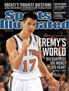 "2nd week in a row on the cover of SI! ""LINcredible""! Jeremy Lin, Sports Illustrated Covers, Football, Baseball Cards, Illustration, Mens Tops, Ideas, Hs Football, Soccer"