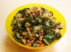 Eye See You Stir-Fry: Black eyed peas are a January favorite, and it's easy to enjoy them beyond New Year's day. This quick, simple stir-fry is a unique way to get your bean fix in and it spotlights another nutrient-packed favorite, kale. #KidsCookMonday #MeatlessMonday