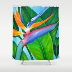 Customize your bathroom decor with unique shower curtains designed by Jen Sinquefields Designs! Made from polyester our designer shower Green Shower Curtains, Bathroom Curtains, Mermaid Bathroom, Buy Birds, Buttonholes, Curtain Rods, Green And Grey, Paradise, Prints