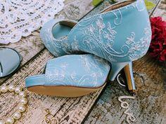 Baby blue peep open toe embroidered Wedding shoes bridal fashion custom shoe service available Women's Closed Toe Pumps Heel Stiletto Heel Satin Rhinestone Wedding alternative Shoes Winter Bridesmaid Dresses, Winter Bridesmaids, Wedding Dresses, Blue Wedding Shoes, Bridal Shoes, Pumps Heels, Stiletto Heels, Alternative Shoes, Baby Blue Weddings
