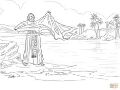 Elijah And The Prophets Of Baal- Coloring Page from