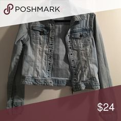 Jean Jacket Zippered Jean jacket. 80% Cotton 18% Polyester 2% Spandex SO Jackets & Coats Jean Jackets
