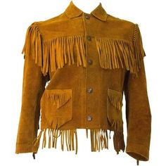 Preowned 60s Small Suede Western Fringe Jacket