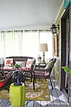 screened porch--some day for the back of my house...