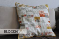 block M quilts: Scrappy pillow