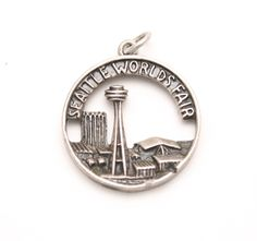 Seattle World's Fair Bracelet Charm Vintage Cellini Sterling Silver Space Needle World Exposition by SterlingRevival on Etsy https://www.etsy.com/listing/261028496/seattle-worlds-fair-bracelet-charm