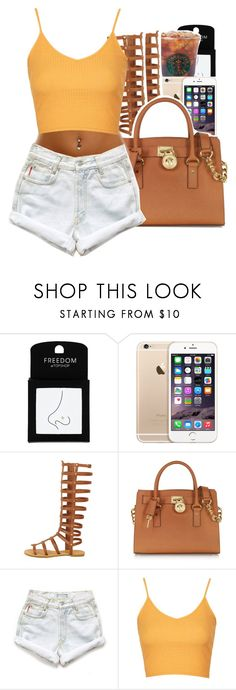 """""""Do you remember when you said You'll never leave me, baby"""" by uniquee-beauty ❤ liked on Polyvore featuring Topshop, Michael Kors and Levi's"""