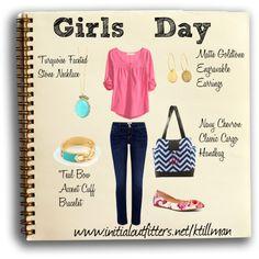 """""""Girls Day!"""" by kelli-thornton-tillman on Polyvore  Shop Online:  www.initialoutfitters.net/ktillman  Find me on FB:  www.facebook.com/kellisinitialoutfitters"""