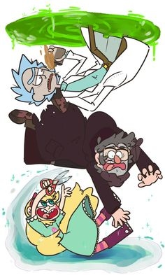 Rick and Morty - Rick Gravity Falls - Stanford Pines Star Vs. the Forces of Evil - Star Butterfly
