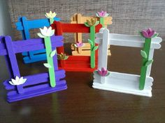 63 Trendy Origami Einfache Kinderprojekte by Diy Home Crafts, Crafts To Make, Arts And Crafts, Mothers Day Crafts For Kids, Diy For Kids, Preschool Crafts, Kids Crafts, Diy Popsicle Stick Crafts, Picture Frame Crafts