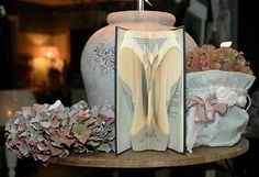 Folded Book Art BUTTERFLY Hand crafted Nature by Bookfolding