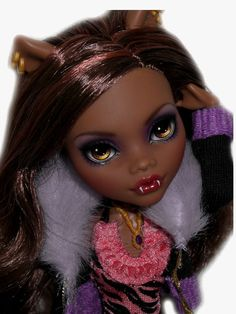 ☠ OOAK custom Monster High doll repaint Clawdeen Wolf goth bjd werewolf ☠ #MonsterHigh #Dolls