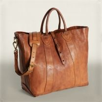 Vintage Brown Leather Tote Ralph Lauren Wish I could have something as nice as this.I like it a lot. Prada Handbags, Purses And Handbags, Sac Michael Kors, Sac Week End, Sacs Design, Brown Leather Totes, Beautiful Bags, Gorgeous Women, My Bags