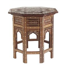 "Moroccan Drum Table, 22""dia. x 20""h, $549"