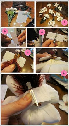 How to make Flower hair clips, #hairclips, #flowerhairclips, #updo, #DIY