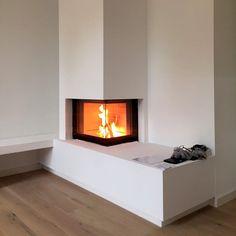Cheminée à bois / contemporaine / à foyer fermé / à 3 faces Leonardo Caminetti GmbH