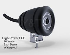 Mini Spotlight 10 Watt LED Fixture (9 to 30 VDC) - 10 Watt Cool White LED Spotlight for Auto, Motorcycle, Truck, RV, Boat and Aircraft by Pilotlights.net. $49.95. This tiny but powerful 10 Watt Mini Spotlight is fully waterproof and designed for utility use indoors or outdoors on any DC voltage from 9VDC to 30VDC.  Extremely bright and focused cool white beam, this fixture is ideal for a variety of installations where you need a bright light source that uses litt...