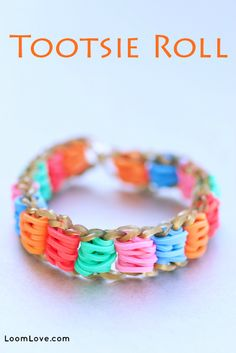 How to Make a Rainbow Loom Tootsie Roll Bracelet