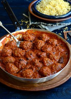 North African inspired Chermoula meatballs in rich tomato sauce