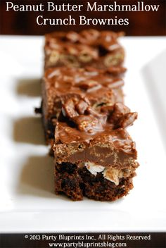 Peanut Butter Marshmallow Crunch Brownies