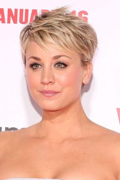 Kaley Cuoco looks amazing with short hair, whether it's a cropped pixie or a wavy bob (and when she's grown it out she's avoided ALL the awkward stages). Click to see pictures at every length and read tips on how to master the same growing-out skills.