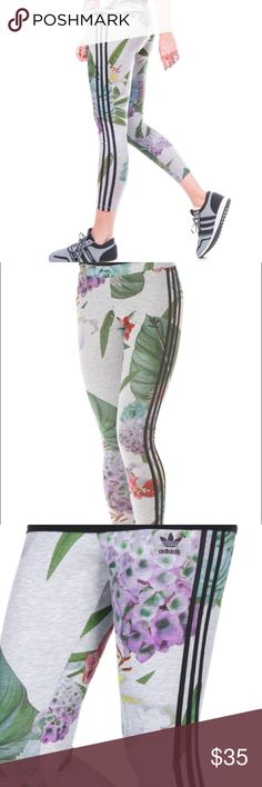 Adidas Train C Leggings Floral Multi - XS New with tag. In perfect condition.  The adidas women's leggings have a lush print made of oversize flowers for a fresh twist. A regular fit and 3-Stripes down the legs give them a casual, sporty look. Please ask any questions you may have before bidding. Adidas Pants Track Pants & Joggers